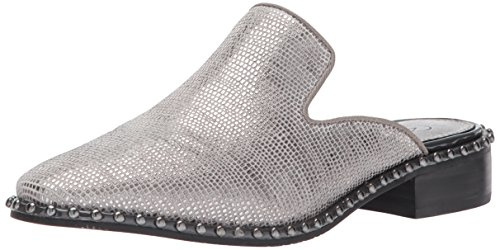 Adrianna Papell Women's Pam Slip-On Loafer Steel Galapagos Leather