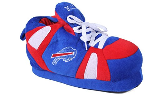 Comfy Feet Happy Feet OFFICIALLY LICENSED Mens and Womens NFL Sneaker Slippers Buffalo Bills