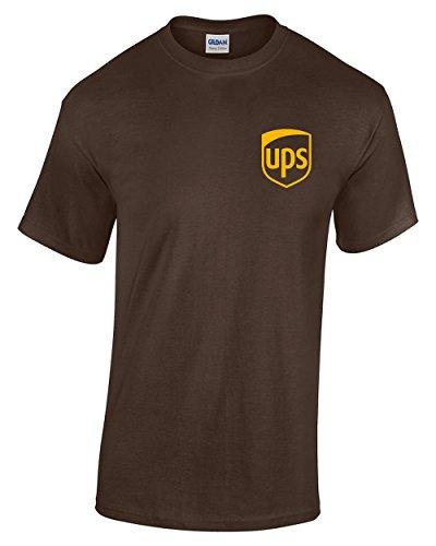 United Parcel Service T-Shirt UPS T-Shirt Postal t-Shirt (M, Brown) -