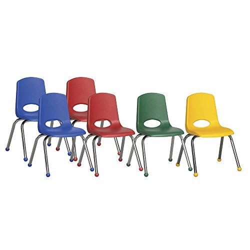 ECR4kids Playschool Classroom Children 16 Stack Chair Chrome