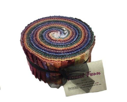 Fossil Fern DARKS Pinwheel 40 2.5-inch Strips Jelly Roll by Benartex by Benartex (Image #1)