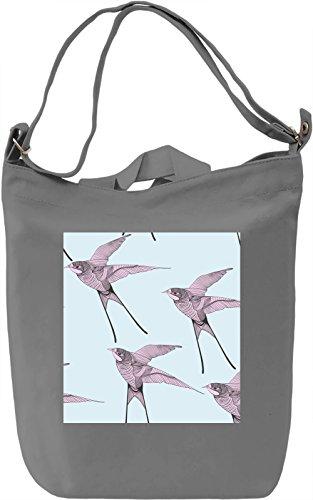Birds Borsa Giornaliera Canvas Canvas Day Bag| 100% Premium Cotton Canvas| DTG Printing|
