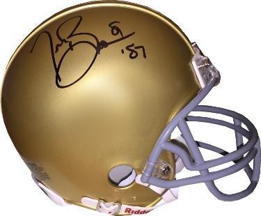 Tim Brown signed Notre Dame Fighting Irish Riddell Mini Helmet #81 '87 (Heisman)- Hologram - JSA Certified