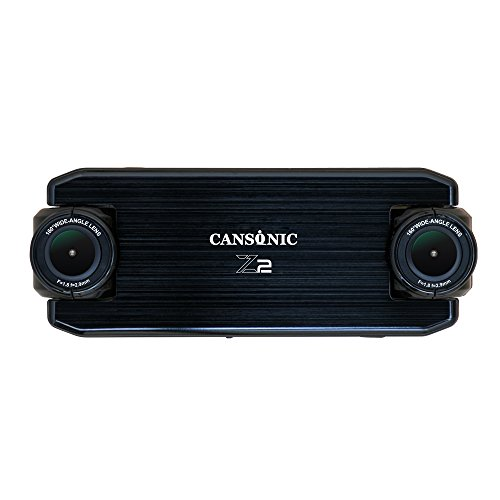 Cansonic UltraDuoZ2 (Commercial Edition) Dual Lens Dash Cam Car Camera Dashboard Digital Driving Video Recorder Duo HD 1080P, 160 Degree Wide Angle Lens x 2, WDR Night Mode, Parking Mode, - Duo Commercial