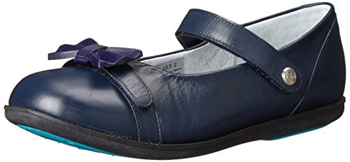Bumbums & Baubles Girl's Lily (Toddler/Little Kid/Big Kid) Navy Flat 8  Toddler M