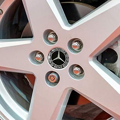 DIY1234 4PCS 65mm/2.56inch Auto Car Sticker Wheel Center Hub Cap Logo Aluminum fit for Mercedes-Benz: Automotive