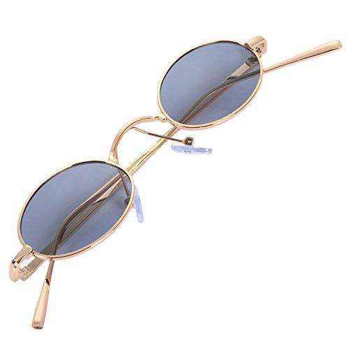 mujer marco sol retro sol oro Gafas de de de TOOGOO plata sol plata pequenas redondas S8003 vintage de senora Gafas de gris Gafas de Gafas de marco Lentes UACxnwqRv