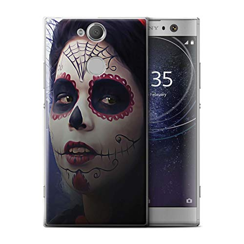 STUFF4 Phone Case/Cover for Sony Xperia XA2 Ultra 2018 / Halloween Makeup Design/Day of The Dead Festival Collection
