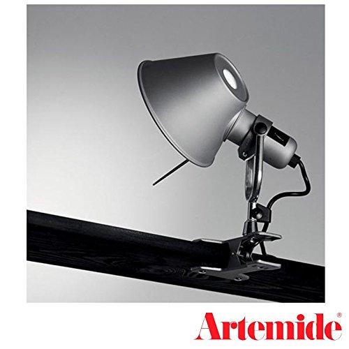 Tolomeo Micro Led Table - Artemide Tolomeo Micro Pinza LED Aluminum Table Wall Lamp Design De Lucchi Fassina