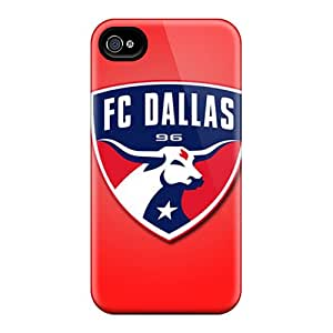 Great Cell-phone Hard Cover For Iphone 4/4s With Support Your Personal Customized Colorful Fc Dallas Series SherriFakhry