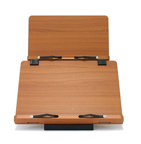 Office Supplies MDF Wood Book Stand Holder Reading Desk Desktop Book Stands Bookends Cherry W 390mm, W 340mm Plus (Cherry Tilt Top Table)