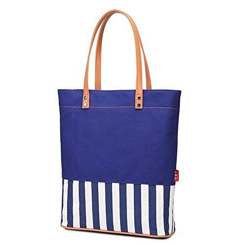 Agoolar Moda De Viajar Bolsas Azulblanco Tela Hombro Mano Women's r5qFwT4xr