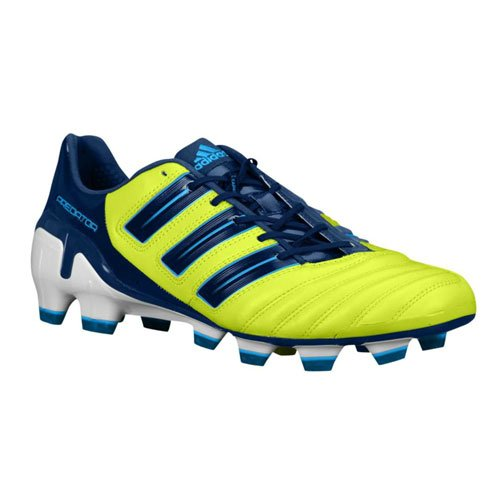 innovative design 5cfcb ebef1 Adidas Adipower Predator Trx Fg Soccer Cleats Slime   Dark Indigo   White  V23527  Amazon.co.uk  Shoes   Bags