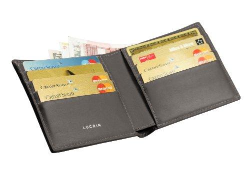 Lucrin Cuir Gris Crédit vcls Porte Vachette nbsp;foncé Carte De grf nbsp;lisse gris Gris Pm1069 nbsp;foncé Standard SXqXnr6A1