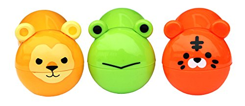 Cute Zoo Animal Chip Bag Clips - 3 Pc Pack - Durable Plastic Clip for Keeping Food Fresh, Organize Kitchen and Office - Perfect for Snacks, Travel & Super Adorable (Frog, Lion, Tiger)