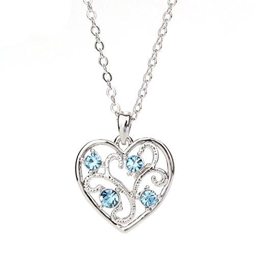 NL-02097C5 Fashion Alloy Europe Heart-Shaped Diamonds Women Necklace