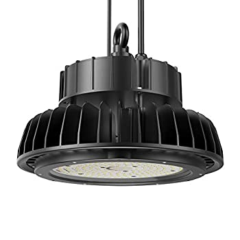 Image of Adiding LED High Bay Light, 150W Replace 600W HID/HPS UFO High Bay Lighting 1-10V Dimmable Driver 19,500 Lumens 5000K Daylight for Garage Gym Workshop Warehouse,DLC ETL Listed (Rotatable Bracket)