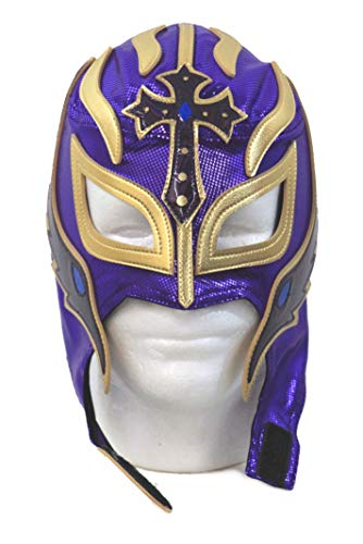 Leos Imports Rey Mysterio Lucha Libre Wrestling Mask (pro-grade) Costume Lycra -Purple by Leos Imports