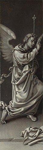 Pieter Van - The Museum Outlet - Circle of Pieter Coecke van Aalst - The Archangel Gabriel - Reverse of Left Hand Shutter - A3 Poster Print