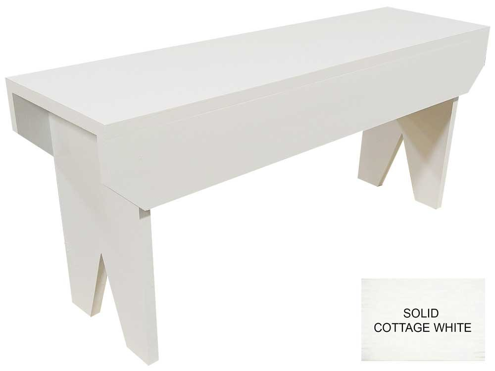 Wooden Bench 3ft long (Solid Cottage White)
