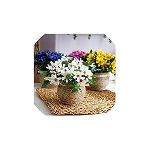 1Pcs Artificial Plant Bonsai Fake Plant Decor Flower Green Plant Plastic Flower Potted for Home Desktop Decoration Flower Bonsai 73