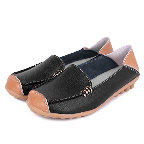 fantiny womens genuine leather loafers casual moccasin
