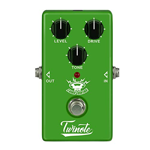 (Twinote Guitar pedal Overdrive Warm and Nature Tube overdrive sound Effects Pedal for Electric Guitar, Exclude Power Adapter)