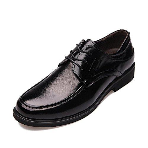 CAI Formale Schuhe der Männer 2018 Neue Kleid Schuhe/Lederne Schuhe der Männer/Niedrige Spitzenschuhe Männer Beschuht Buumlro Arbeits Schuhe/Tägliche gehende Schuhe (Farbe : Schwarz  Größe : 41) Schwarz