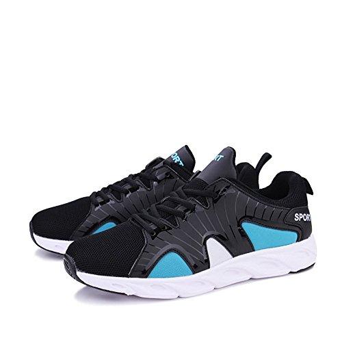 Sportive da Cricket Sneaker Tacco Blue Scarpe con Corsa Uomo per da da Uomo Piatto Black Scarpe fdcqS