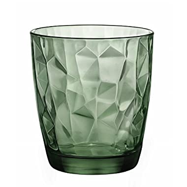 Bormioli Rocco Diamond Double Old Fashioned Glasses, Forest Green, Set of 6