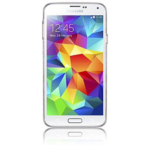 "JewelryWe ""KISS ME"" Sexy Rote Lippen TPU Silikon Handy Case Schutzhülle Tasche Hülle Rückenschutzhülle Etui für Samsung Galaxy S5 Weiss"