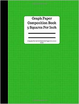 amazon com graph paper composition book 5 square per inch 50