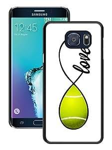 Hot Sale Samsung Galaxy S6 Edge Plus Case ,Unique And Durable Designed Case With Tennis Love Infinity Love black Samsung Galaxy S6 Edge+ Cover Phone Case