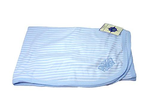 Biddy Murphy Super Soft Irish Baby Blanket 100% Cotton Blue Angel