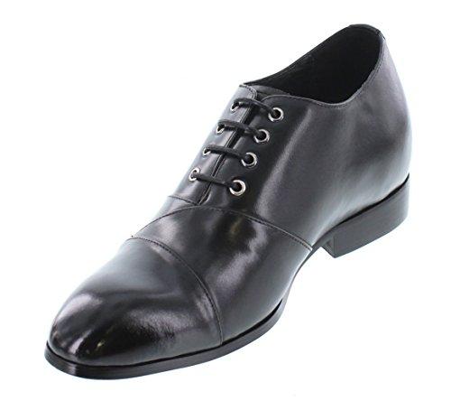 K-CALDEN 323041-6,60 (2,6)-Tappetto cm, altezza aumentare ascensore scarpe di pelle, stringate, colore: nero)