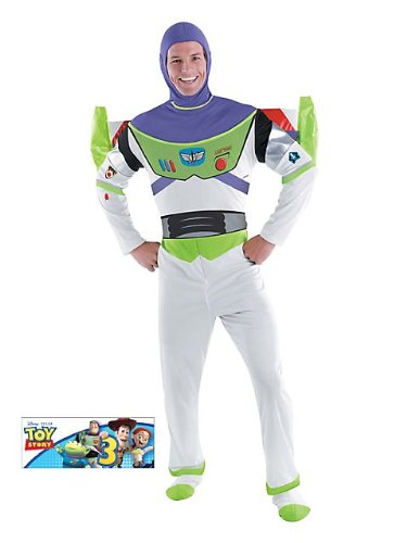 Girls Buzz Lightyear Costumes (Deluxe Buzz Lightyear Adult Costume - X-Large)