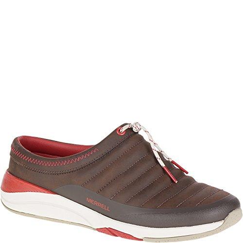 Merrell Women's Applaud Slide Slip-On Shoe, Bracken, 7.5 M - Bracken Shoes Womens Brown