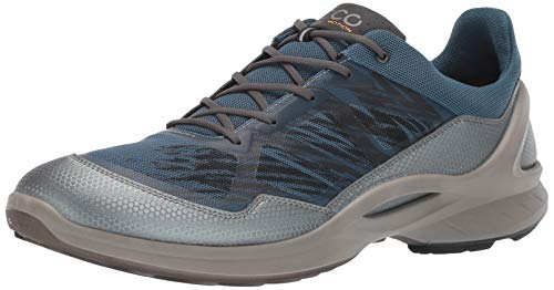 ECCO Men's Biom Fjuel Racer Running Shoe, Dark Shadow/Indian Teal, 40 M EU (6-6.5 US)