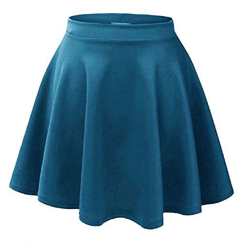 Momo Fashions Ladies Flippy Mini Jupe Patineuse EUR Taille 36-42 Sarcelle