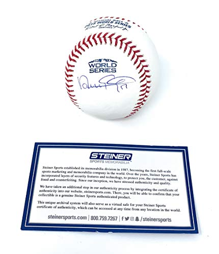 (Nathan Eovaldi Boston Red Sox Signed Autograph Official WORLD SERIES MLB Baseball Steiner Sports Certified)