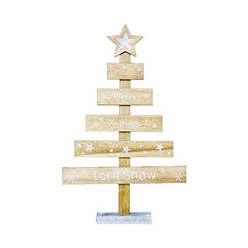 Gespout Decoraciones Navidenas Cartas Creativas Decoraciones para arboles de Navidad Pintadas Decoraciones Navidenas Tarjetas de Mesa Size 29cm*18cm (Beige)