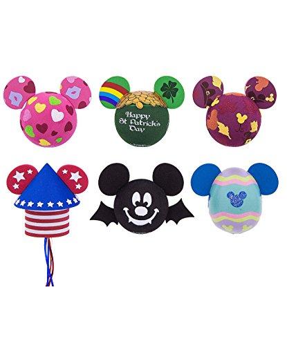 [해외]Disney Parks 정통 마우스 마우스 멀티 홀리데이 자동차 안테나 또는 연필 토퍼 6 개 세트/Disney Parks Authentic Mouse Mouse Multi Holiday Car Antenna or P