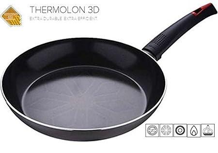 Bergner negro revestido de cerámica sartén antiadherente Exterior gris (gris oscuro). REFORZADO CON DIAMANTES, cerámica, 22 cm: Amazon.es: Hogar