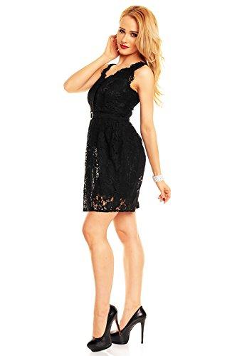 2a0c8a8f5df3 ... Mayaadi Spitzenkleid Ballkleid Abendkleid Partykleid Festkleid  Cocktailkleid Blumenmuster HS-311 Schwarz cgazsupt ...