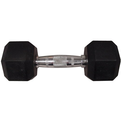 Gold's Gym Rubber Hex Dumbbell, 30 lbs, - Dumbells Gym Golds Rubber