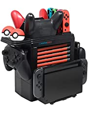 FYOUNG Charging Dock Compatible with Nintendo Switch, Charger Stand Compatible with Pro Controllers/Joycons/Pokeball Plus Controller, Storage Tower Controller Charger for Switch Accessories