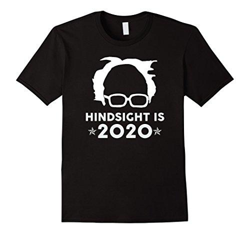Mens Premium  Hindsight Is 2020  Bernie Sanders Funny T Shirt Large Black