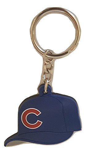 - MLB Chicago Cubs Soft Rubber Team Cap Key Ring