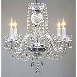 "New! Authentic All Crystal Chandelier Chandeliers H17"" x W17"""