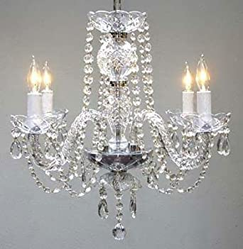 New Authentic All Crystal Chandelier Chandeliers H17 x W17